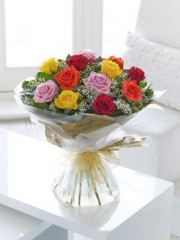 Heavenly Mixed Rose Hand-tied