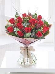 Extra Large Christmas Red Rose