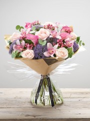 Luxury Calla Lily & Orchid Blush Pink Hand-tied