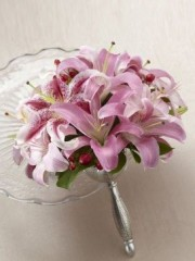 Pink Oriental Lily Bouquet